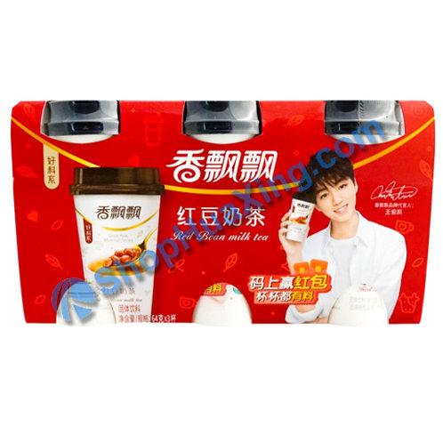 04 Red Bean Flv Milk Tea 香飘飘 红豆奶茶 3杯 240g