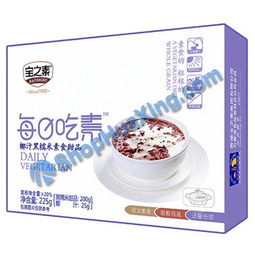 04 BZS Coconut Juice W Black Glutinous Rice 宝之素 椰汁黑糯米素食甜品 225g