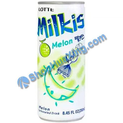 04 Lotte Milkis Melon Drink 牛奶蜜瓜味饮料 铝罐 250ml