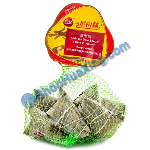 05 Chinese Date Rice Dumpling 三全龙舟粽 蜜枣粽 网袋装 520g