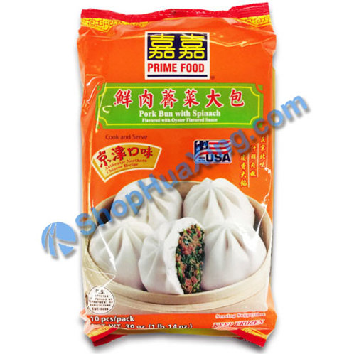 05 Prime Food Pork Bun With Spinach 嘉嘉 鲜肉荠菜大包 30oz