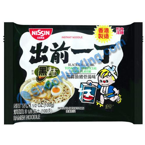 03 Nissin Black Garlic Oil Tonkotsu Flv Instant Noodle 出前一丁面 黑蒜油猪骨汤味 100g