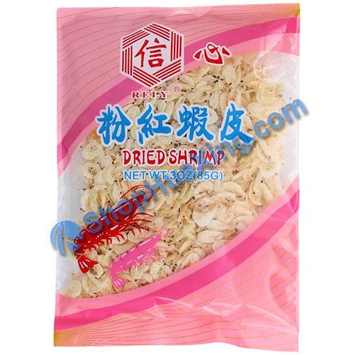 01 Rely Dried Shrimp 信心 粉红虾皮 3oz
