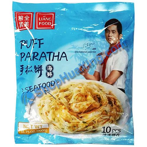 05 Frozen Puff Paratha Seafood Flv. 粮全其美手抓饼 海鲜味 900g