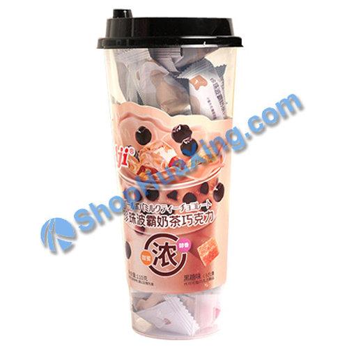 04 Aji Lactic Milk Drinks Black Sugar Flv 珍珠波霸奶茶巧克力 黑糖味 110g