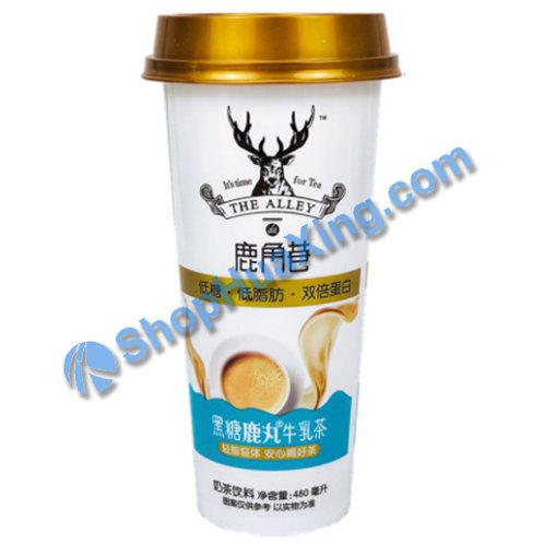 04 LJX Black Sugar Luwan Oolong Milk Tea 鹿角巷 黑糖鹿丸牛乳茶 480ml