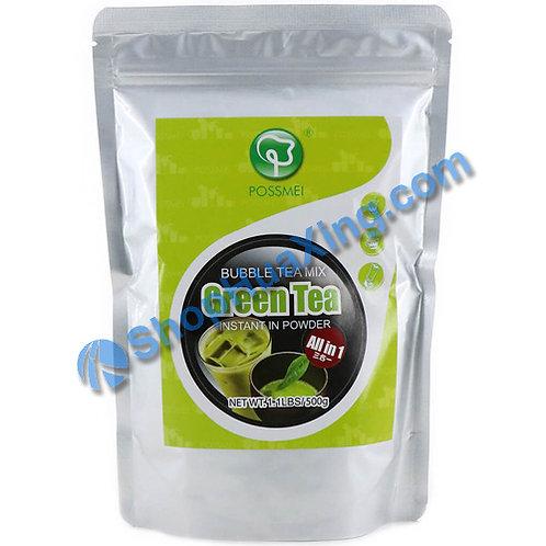 03 Possmei Bubble Tea Mix Instant in Powder Green Tea Flv. 珍珠奶茶粉 绿茶味 500g