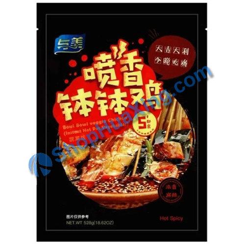 03 Bowl Bowl Veggie Chicken Hot Spicy 与美 喷香钵钵鸡 浓香麻辣 碗装 528g