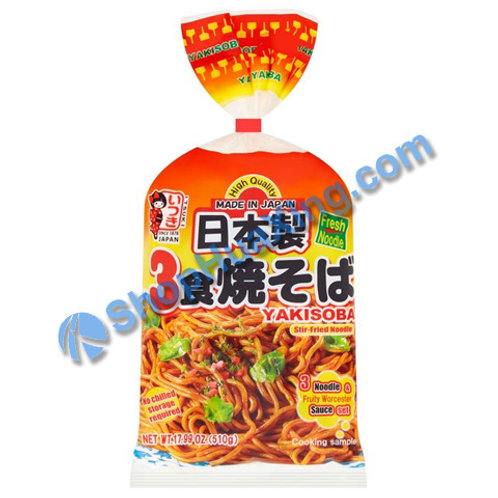 04 Itsuki Yakisoba Noodle w. Sauce 日本制炒面 510g