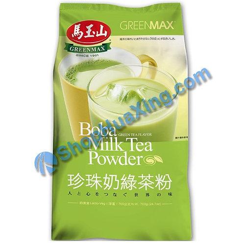 03 Boba Milk Tea Powder Green Tea Flv. 马玉山 珍珠奶绿茶粉 700g
