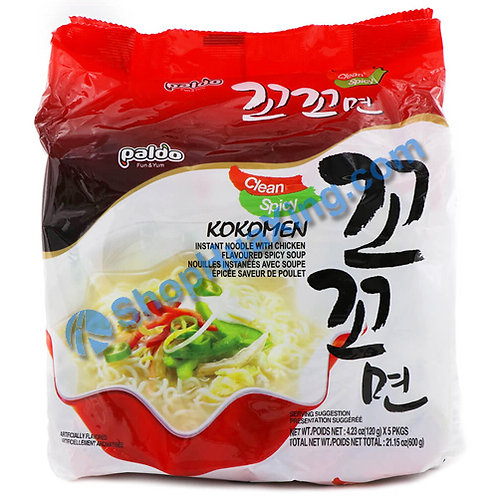 03 Paldo Kokomen Instant Noodle W Spicy Chicken Flv 八道咕咕面 香辣鸡汤味 120gX5pk