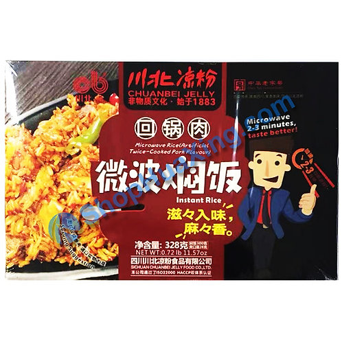 03 Microwave Instant Rice Artificial Twice Cooked Pork Flv. 川北凉粉微波焖饭 回锅肉 328g
