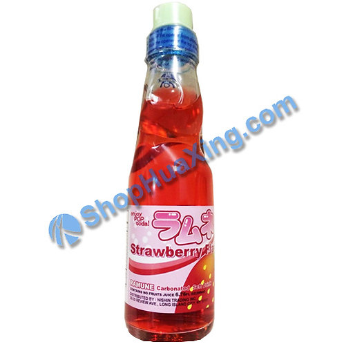 04 Nishin Strawberry Flavor Ramune 日新弹珠汽水 草莓味 200ml