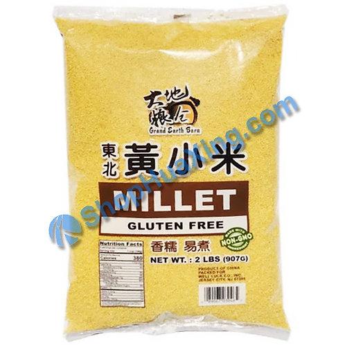 04 Dried Millet 大地粮仓 东北黄小米 2LB