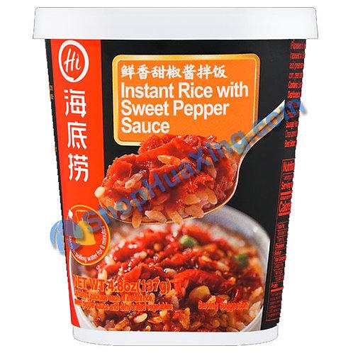 03 Instant Rice w. Sweet Pepper Sauce 海底捞鲜香甜椒酱拌饭 137g