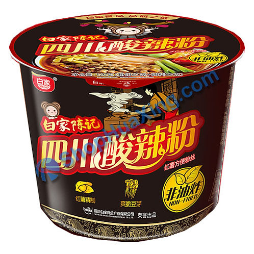 03 SiChuan Hot & Sour Flv Instant Vermicelli 白家陈记 四川酸辣粉 碗装 105g