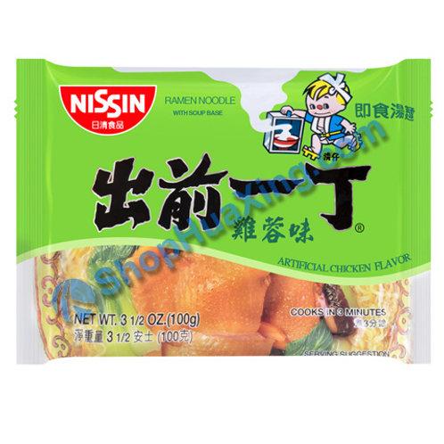 03 Nissin Artificial Chicken Flv Instant Noodle 出前一丁面 鸡蓉味 100g
