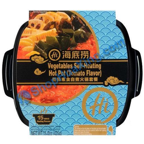 03 Hi Vegetable Self-Heating Hot Pot Tomato Flv.海底捞自煮火锅 番茄素食 425g