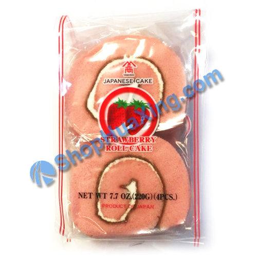 04 Yamasho Japanese Roll Cake Strawberry Flv. 草莓味蛋糕卷 220g