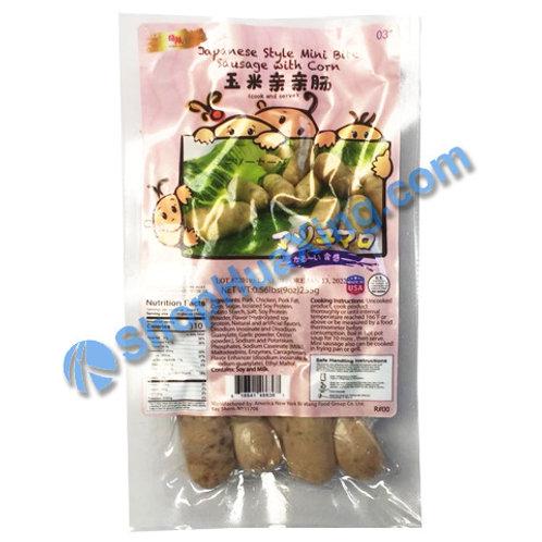 05 Japanese Mini Sausage W/corn 日旺 日式亲亲玉米肠100g