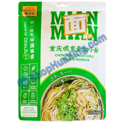 03 ChinEat ChongQing Green Chili TingLing Noodles 喜优味 重庆嘿爽青椒小面 133g