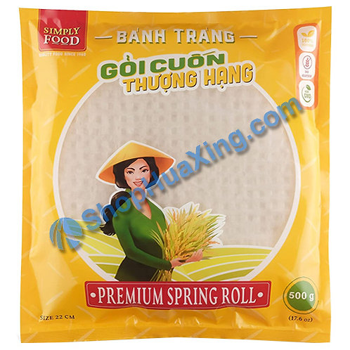 03 Simply Food Premium Spring Roll Wrapper 22cm 米纸春卷皮 500g