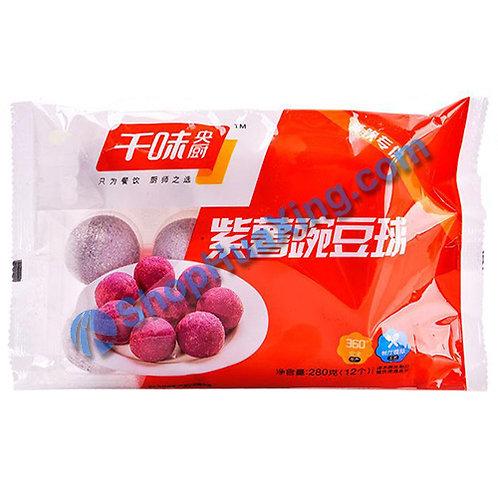 05 Purple Sweet Potato Rice Ball w. Pea 千味央厨 紫薯豌豆球 280g