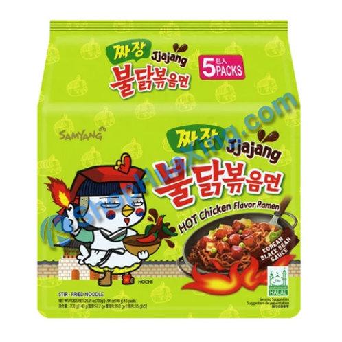 03 SamYang Hot Chicken Flv Ramen 韩式拌面 辣鸡味 5包装 700g