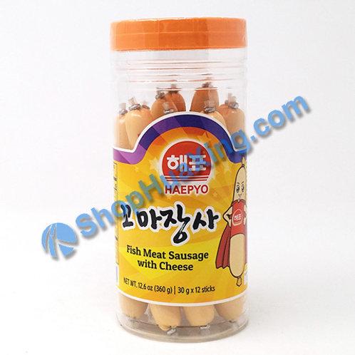 01 Haepyo Fish Meat Sausage w/ Cheese 鱼肠 360g