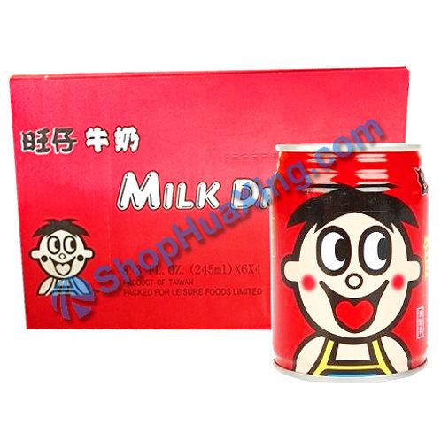 04 Milk Drink 旺仔牛奶 铁罐 245ml x 24 /箱