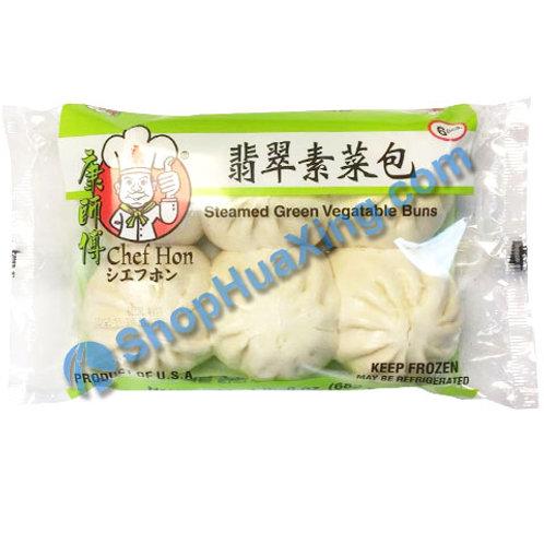 05 Chef Hon Steamed Green Veg Buns  康师傅 翡翠素菜包 682g
