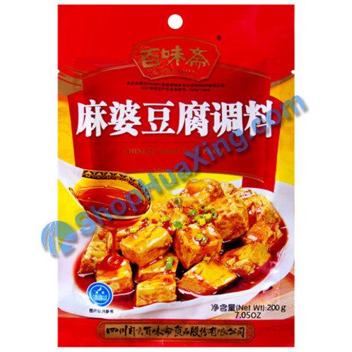 05 Chinese Mapo Tofu Paste 百味斋 麻婆豆腐调料 200g