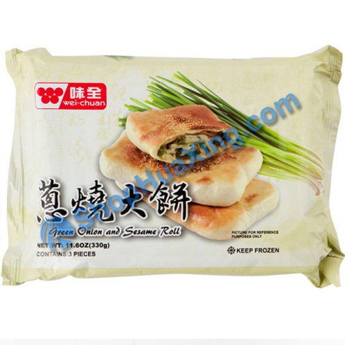 06 WC Green Onion and Sesame Roll 味全葱烧大饼 330g