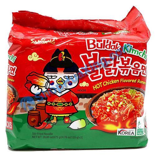 03 SamYang Kimchi Hot Chicken Ramen 辣鸡拉面 泡菜味 135gX5包