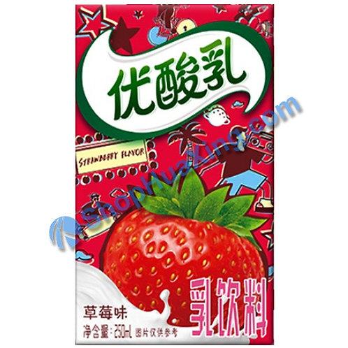 04 Yogurt Drink Strawberry Flv 伊利 优酸乳 草莓味 250ml