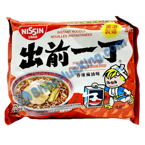 03 Nissin Spicy Sesame Oil Flv Instant Noodle 出前一丁面 香辣麻油味 100g