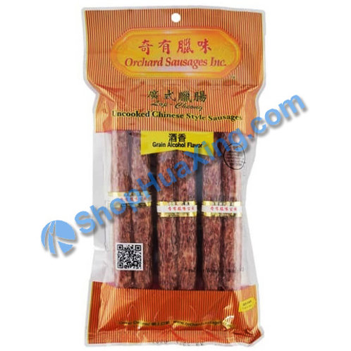 01 Uncooked Chinese Style Sausage 奇有腊味 广式腊肠 酒香 14oz