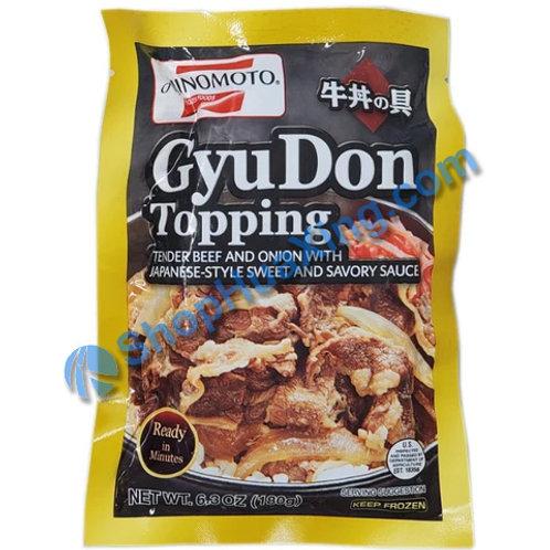 06 Ajinomoto GyuDon Topping Beef w. Onion in Sauce 牛丼 6.3oz