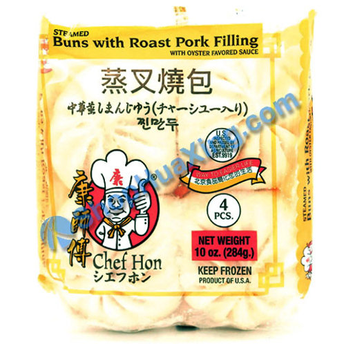 05 Chef Hon Steamed Buns W/ Roast Pork 康师傅 蒸叉烧包 284g