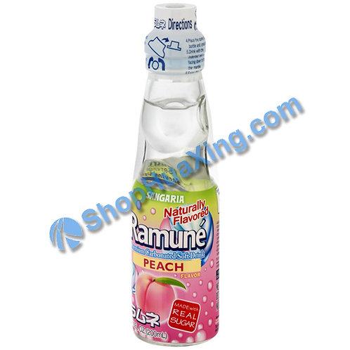 04 Sangaria Peach Flavor Ramune 弹珠汽水 水蜜桃味 200ml