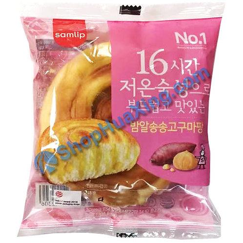 04 Samlip Soft Bread w. Sweet Potato Paste 番薯酱手撕面包 90g