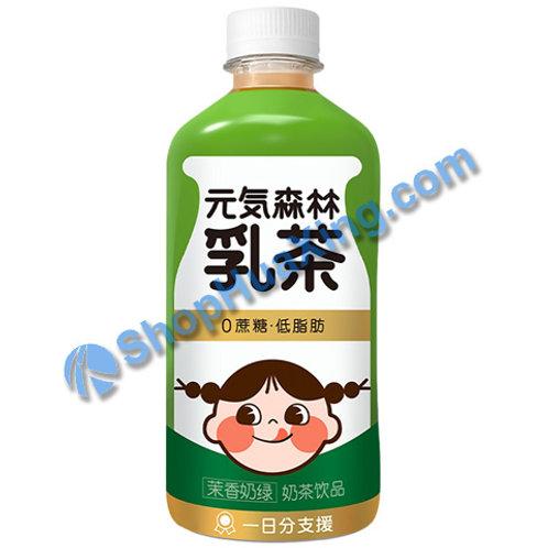 04 Genki Forest Milk Tea Drink Jasmine Tea Flv 元气森林乳茶 茉香奶绿 450ml