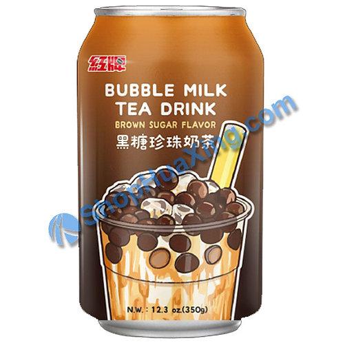 04 Bubble Milk Tea Drink Brown Sugar Flv. 红牌 黑糖珍珠奶茶 350g
