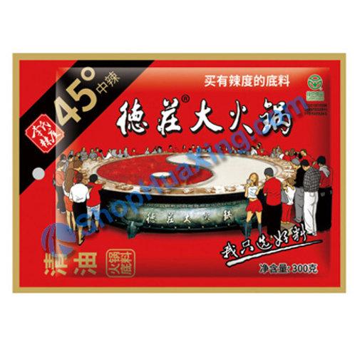 05 Hot Pot Base Seasoning Medium 德庄大火锅 清油45度中辣 300g