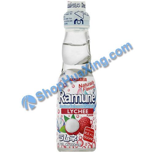 04 Sangaria Lychee Flavor Ramune 弹珠汽水 荔枝味 200ml