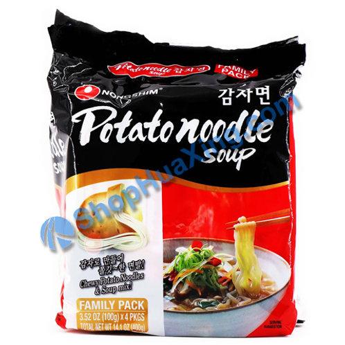 03 NongShim Potato Noodle Soup 农心 土豆面 4包 X100g