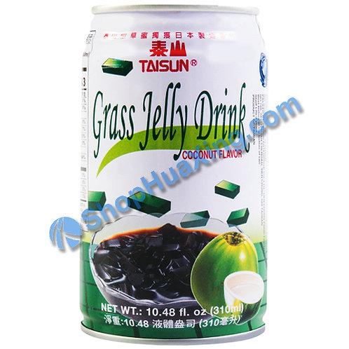 04 Taisun Grass Jelly Drink Coconut Flv. 泰山仙草蜜 椰子味 310ml