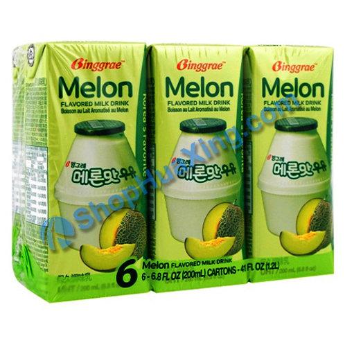 04 Binggrae Melon Flv Milk Drink  牛奶饮料 蜜瓜味 6PK X 200ml