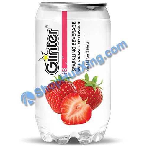 04 Glinter Sparkling Beverage w. Strawberry Flv. 苏打汽水 草莓味 350ml