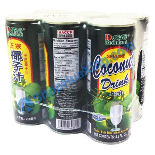 04 Redolent Coconut Drink 6pc 绿得 椰子汁 /6罐
